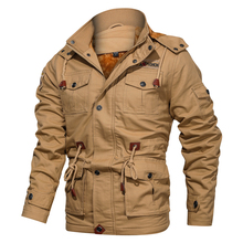 2020 Winter Military Jacket Men Casual Thick Thermal Coat Army Pilot Jackets Air Force Cargo Outwear Fleece Hooded Jacket M-4XL