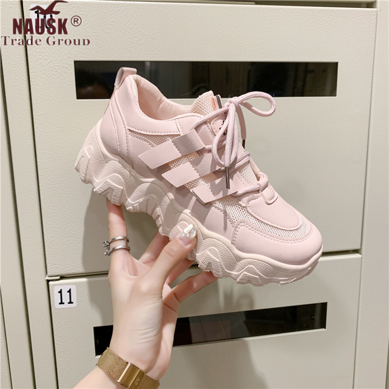 Sneakers Shoes Women Mesh Casual Platform Vulcanize Shoes Platform Sneakers Women Shoes Chunky Sneakers Dad Shoes Trainers Women