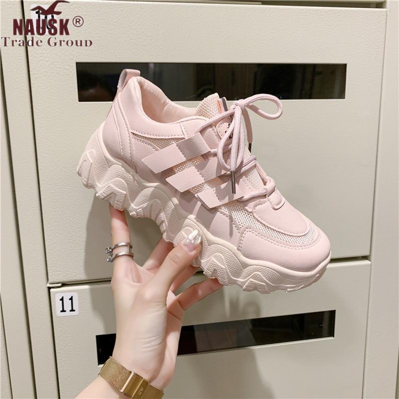 Sneakers Shoes Women Mesh Casual Platform Vulcanize Shoes Platform Sneakers Women Shoes Chunky Sneakers Dad Shoes Trainers Women