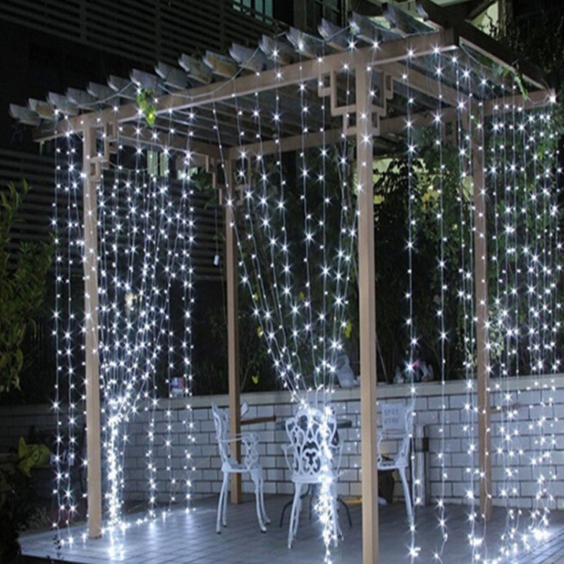 3*3M LED Wedding Fairy Lights LED Christmas Garland Curtain Party Patio Window Outdoor String Light Decoration