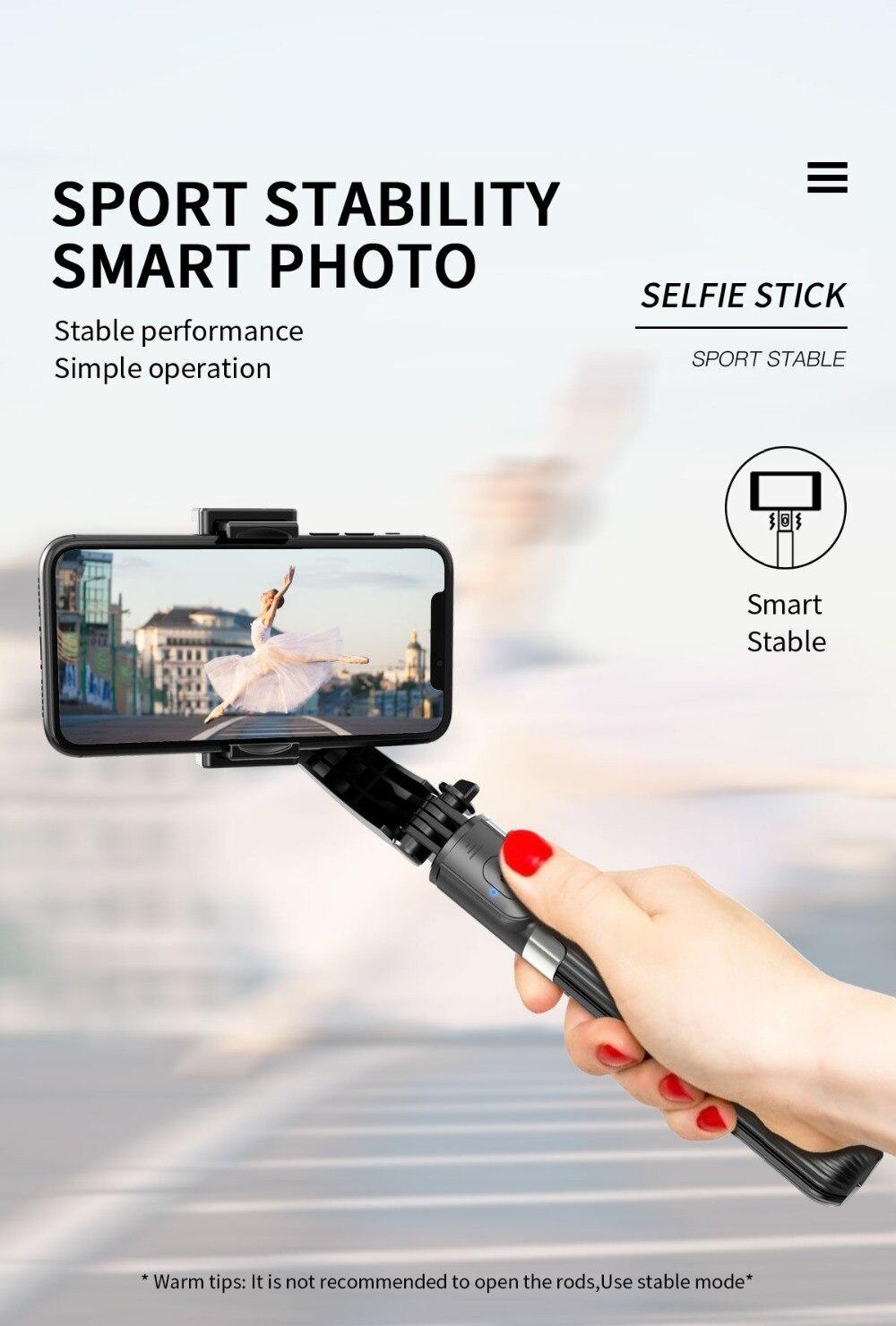 SHISUO L08 3 en 1 estabilizador de mano Selfie Stick trípode con soporte  remoto Selfie soporte para Teléfonos/Xiaomi/Huawei Mini trípodes|palos de  selfie| - AliExpress