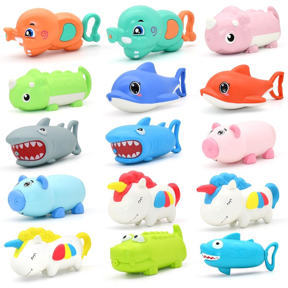 Summer Water Guns Kids Toys Pistol Blaster Outdoor Games Swimming Pool Shark Unicorn Crocodile Squirter Toys For Children