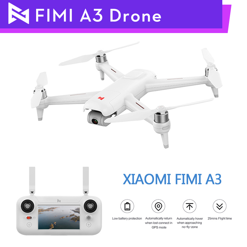 FIMI A3 RC Drone 5 8G GPS 1KM FPV With HD 1080P Gimbal Camera 2-axis Quadcopter RTF