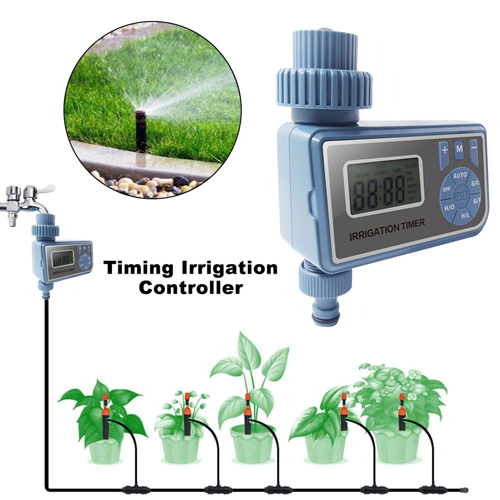 Bewässerung Controller Outlet Bewässerung Gerät Familie Garten Bewässerung Timer LED Licht