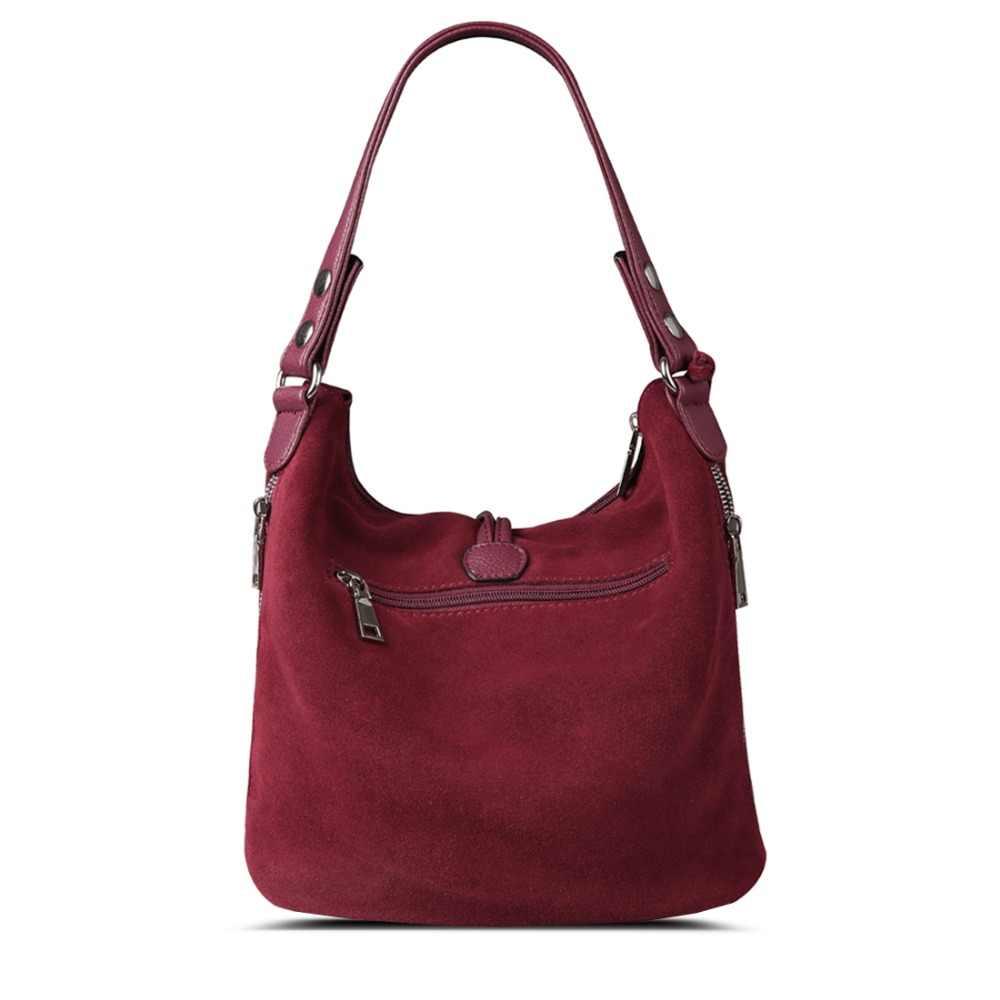 Модная женская сумка через плечо из спилка, замшевая Повседневная сумка через плечо, сумка-мессенджер Hobo с верхней ручкой
