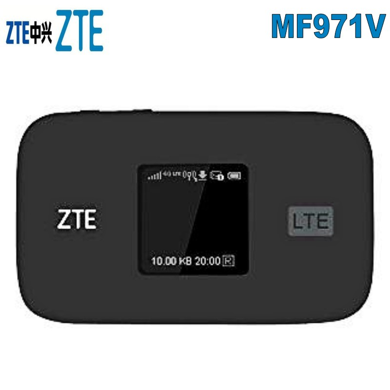 Original Unlock 300Mbps ZTE MF971V Cat6 WiFi Router 4G LTE With B1/2/3/4/5/7/8/17/12/20/28 TDD B38/40