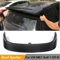 For Volkswagen VW Golf 7 VII GTI MK7 R 2014 2019 Rear Roof Spoiler Winfow Wing Lip Carbon Fiber / FRP