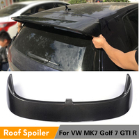 For Volkswagen VW Golf 7 VII GTI MK7 R 2014 2019 Rear Roof Spoiler Winfow Wing Lip Carbon Fiber / FRP