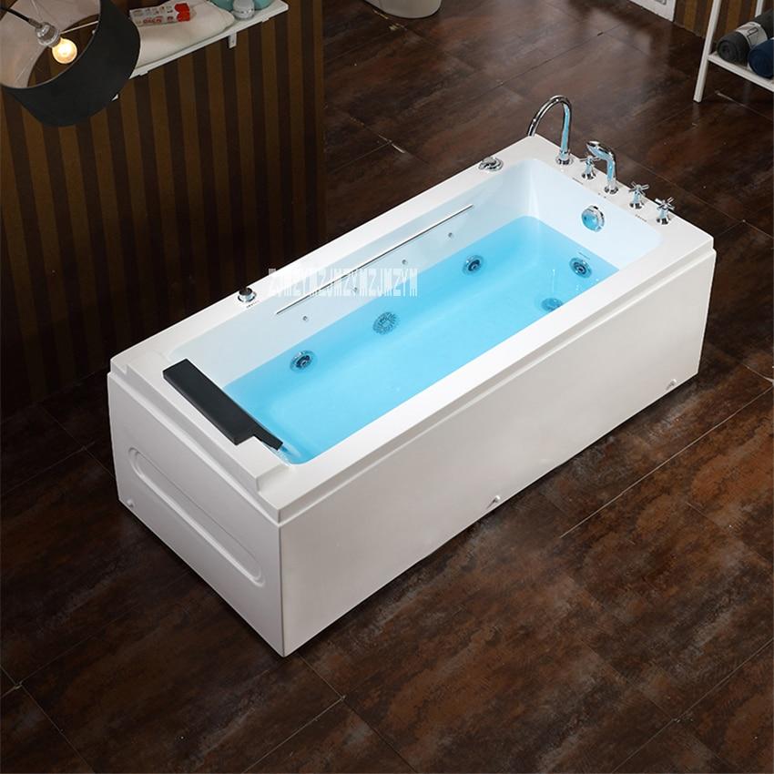 Parede do agregado familiar canto banheira casa banheiro adulto acrílico surf banheira com função de massagem acrílico banheira de hidromassagem 1.4m-2