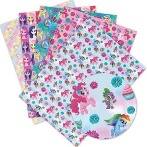30*136cm 1pc Faux Synthetic Leather Fabric flowers Printed Sheet For Needlework Home Textile DIY Hair Bows Crafts L391(China)