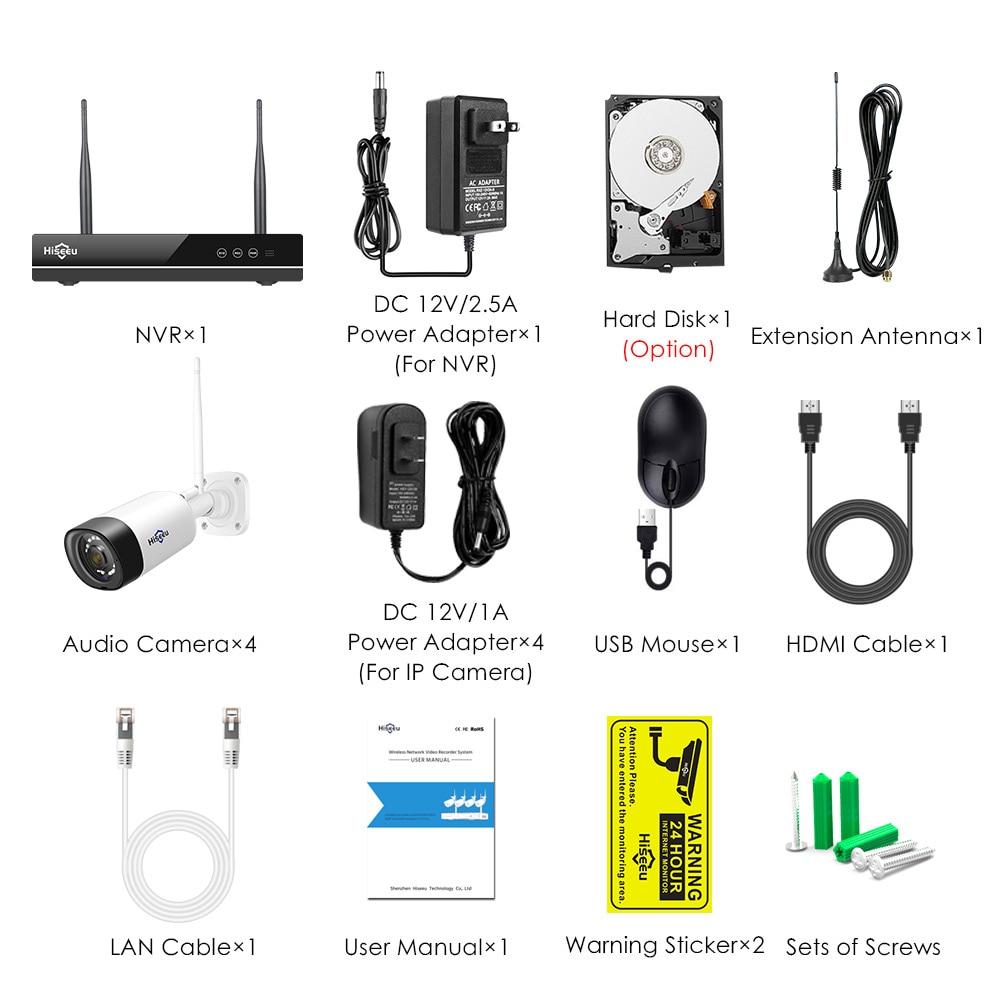 H.265 2MP 8CH сымсыз аудио CCTV сыртқы IP - Қауіпсіздік және қорғау - фото 6