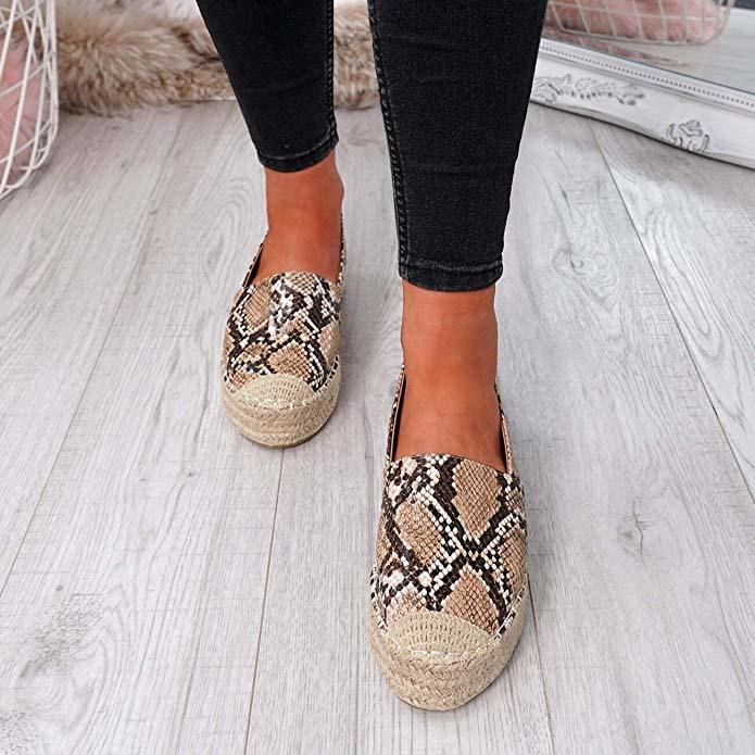 2019 Women's Platform Espadrilles Flock Shoes Slippers Womens Casual Shoes Breathable Flax Hemp Canvas Shoes