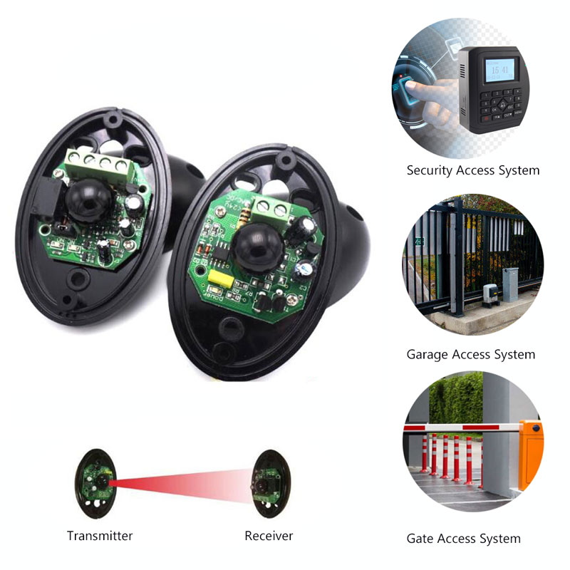 Sensor Infrared Safety Beam Photocell Detector For Garage Gate Automatic Door