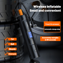 6000mAh Portable Air Compressor 12V 150 PSI Tire Inflator Electric Auto Pump for Car Motorcycle Bike with Digital LCD LED Light