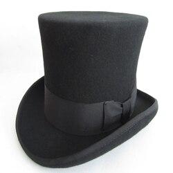 WZCX однотонная шерстяная шляпа с бантом для выступления волшебника, унисекс, модная новая индивидуальная Кепка с плоским верхом, джазовая Ке...