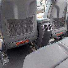 1 pçs universal carro volta protetor capa assento de volta anti-pontapé almofada para toyota rav4 acessórios estilo do carro