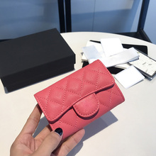 Luxury classic ladies bag brand brand fashion caviar leather business card holder leather credit card holder