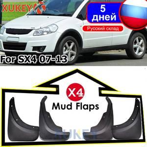 Genuine XUKEY Mud Flaps For SUZUKI SX4 07-13 Hatch Crossover OE Styled Car Mudflaps Splash Guards Mud Flap Mudguard Car Styling