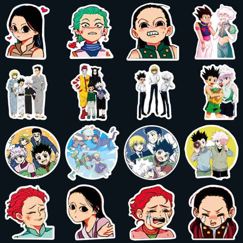 Random Pack Anime Hunter X Hunter Stickers Waterproof PVC Skateboard Graffiti Luggage Guitar Laptop Vsco Girl Sticker Kids Toy