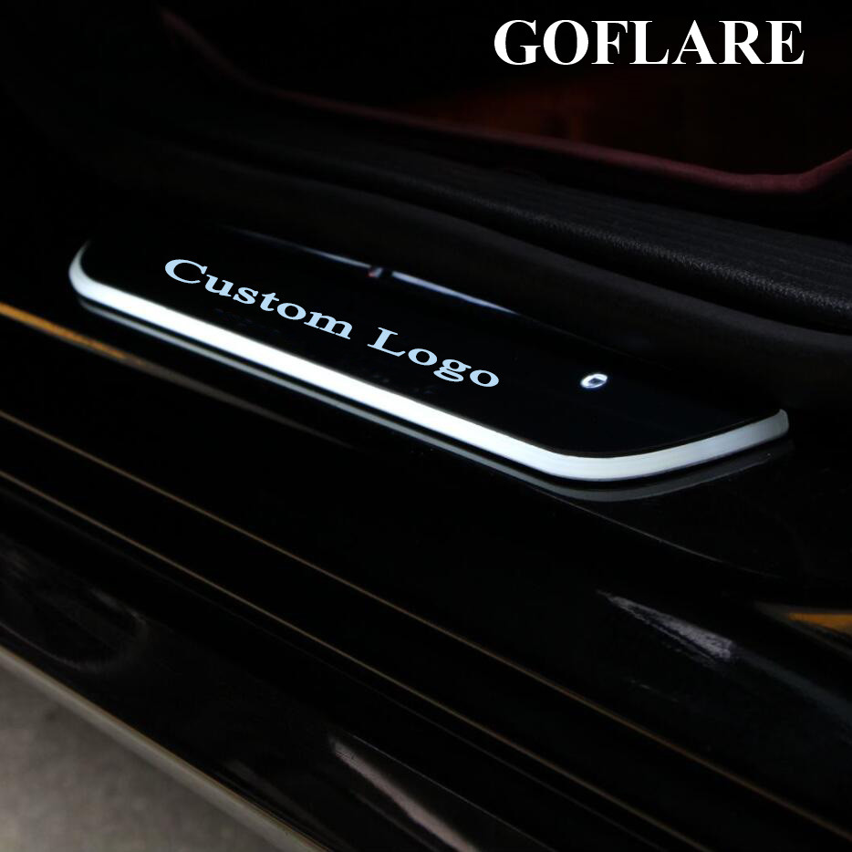 CLA LED Car Door Sill Scuff Plate Guards Welcome Lights For ALL Mercedes Benz