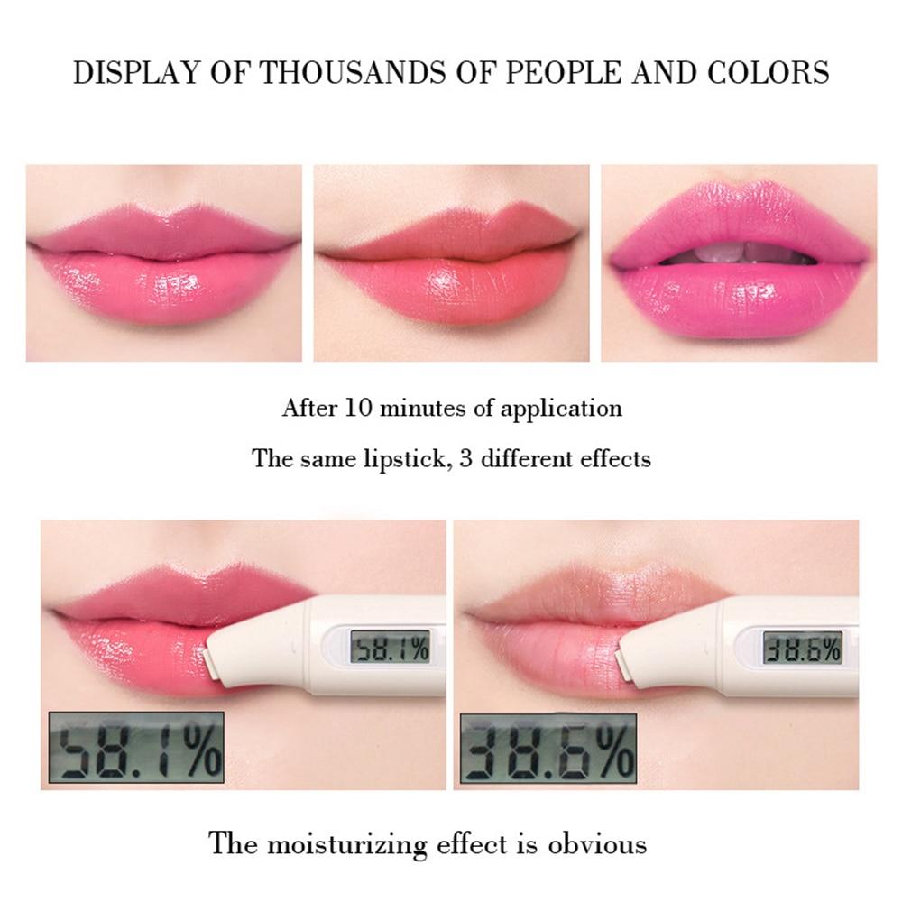 1PCS  Aloe Vera Temperature Changed Color Lipstick Natural Moisturizer Lipblam Natural Magic Pink Protector Lips Cosmetics TSLM1 2