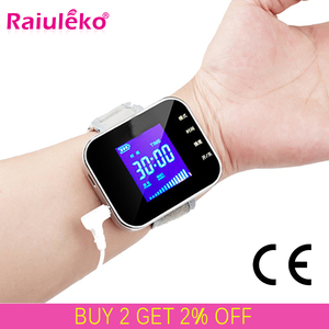 650nm Laser Therapy Diabetic Wrist Watch for Diabetes Hypertension Treatment Watch Laser Sinusitis Therapeutic Apparatus(China)
