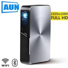 Aun projetor hd completo j10, 1920x1080 p, construído em android, wifi, hd dentro. Bateria de 6000 mah, mini projector.1080p portátil cinema em casa