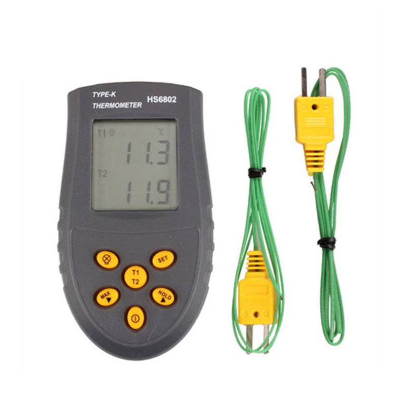 HS6802 Portable K TYPE Thermocouple Digital Thermometer -50 ~1350 C