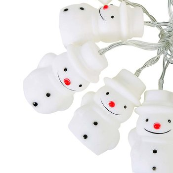 10LED Silicon Snowman Christmas Fairy String Light Home Party Decoration Lamp Gift Decorative String for Christmas smkj e1hq christmas colored hair ball decorative snowman ornaments 10 pcs