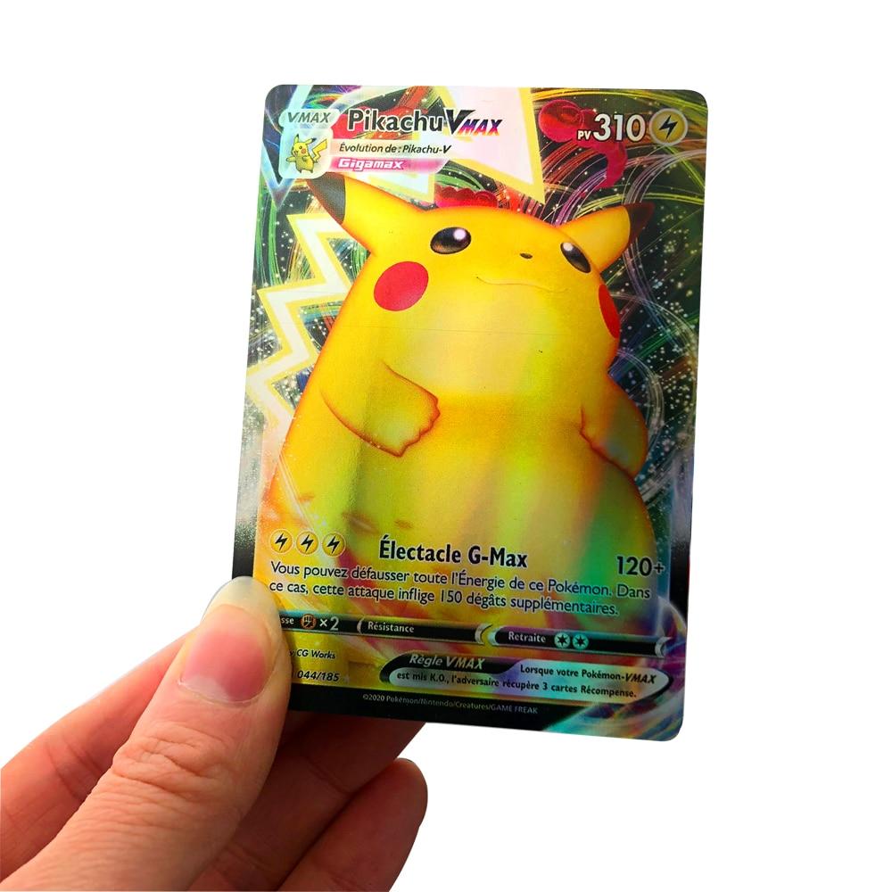 Новое поступление, коллекция карт Pokemon Cards GX V VMAX EX MEGA серии во французском стиле, 140 в