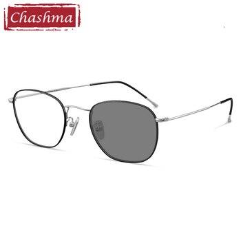 Men Chameleon Progressive Free Form UV Porection Myopia Glasses Oval Women Prescription Eyeglasses Light Frame Anti Reflective