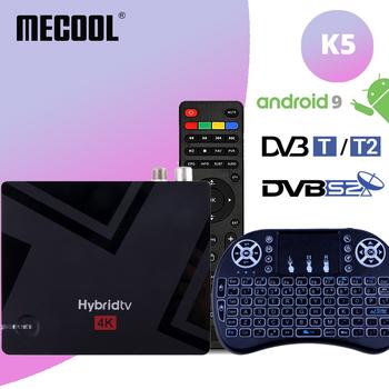 Mecool K5 TV pudełko Amlogic S905X3 czterordzeniowy ramię 2GB 16GB 2 4G 5G 2T2R WiFi BT 4 2 DVB T2 + S2 Android 9 0 pilot na podczerwień tanie i dobre opinie NONE 100 M CN (pochodzenie) Amlogic S905X3 Quad core 64-bit Cortex-A55 16 GB eMMC HDMI 2 0 2G DDR3 K5 TV Box 802 11ac 802 11n 2 4 GHz