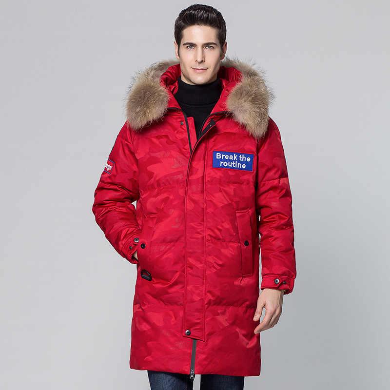 SHANBAO hombres y mujeres pueden llevar gruesa cálida de lujo de alta calidad camuflaje con capucha chaqueta 2019 ropa de marca de invierno abajo abrigo