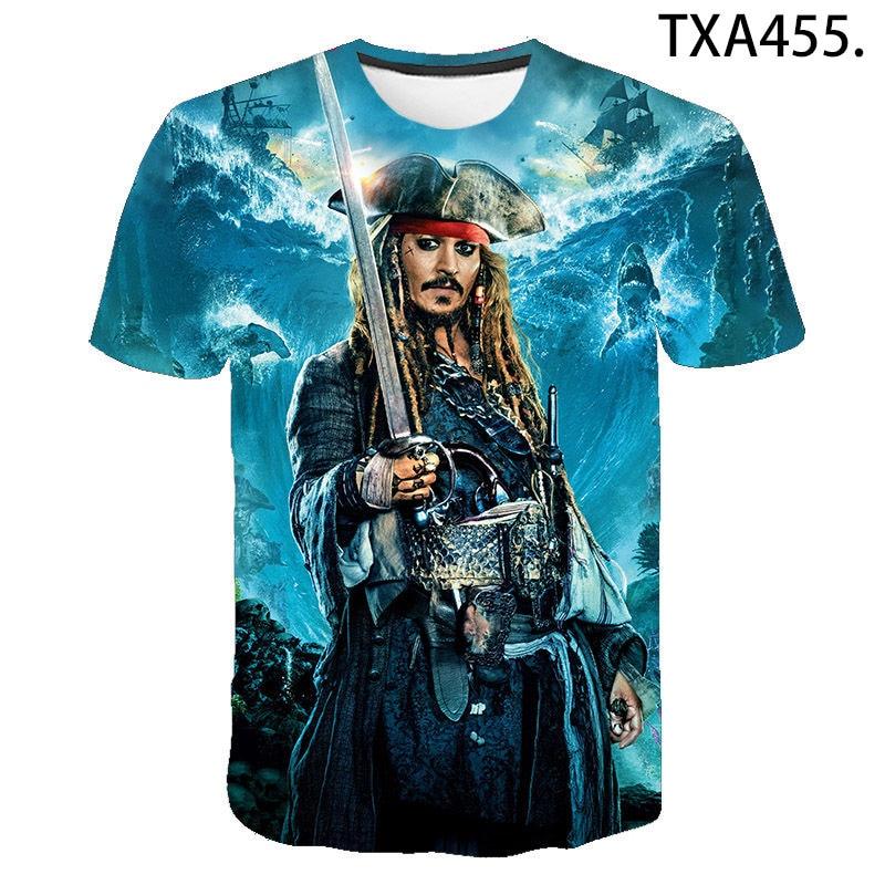 Men Women Children 3D Print T-shirt Pirates Of The Caribbean T Shirts Short Sleeve Casual Tshirt Boy Girl Kids Streetwear Tee