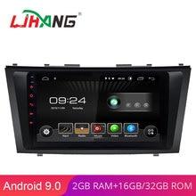 LJHANG 9 дюймов Android 9,0 Автомагнитола для TOYOTA Camry 2007 2008 2009 2010 2011 wifi Мультимедиа gps навигация 2G+ 32G авто RDS ips