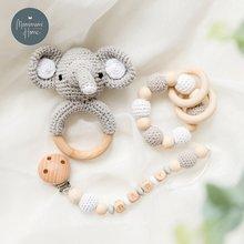 1 комплект крючком амигуруми слона Совы погремушка колокол детские