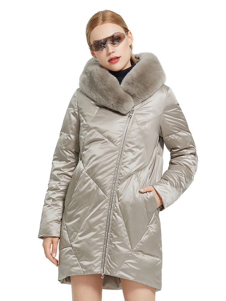 Cotton Coat Parkas Long-Jacket MIEGOFCE Stylish-Fur-Collar Rabbit Women's New with Rex
