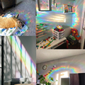 3D Rainbow Effect Window Stickers Star Baiyun Butterfly Decoration DIY Glass Decals Home Bedroom Office Privacy Protection