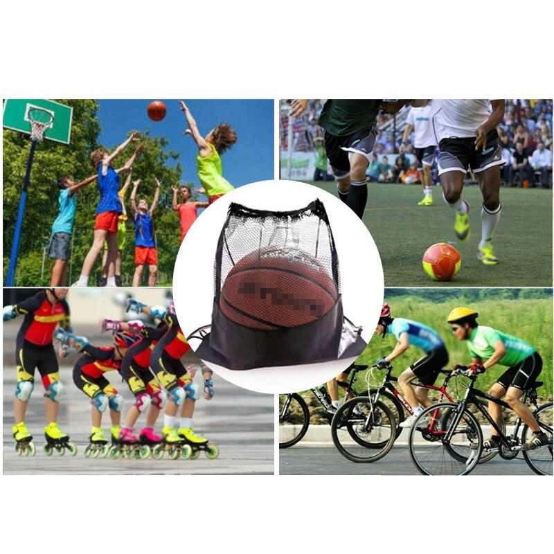 Портативная Сетчатая Сумка для футбола, рюкзак для хранения футбольных мячей-3