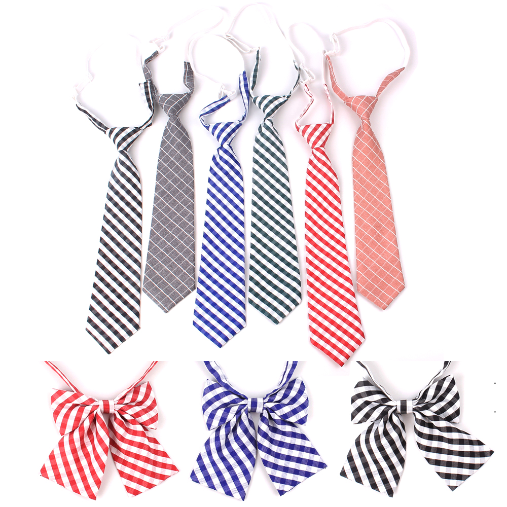Women Necktie Plaid Neck Tie For Ladies Suits 7cm Ties Slim Girls Tie Gravatas Rubber Tie For Boys