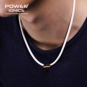 Image 5 - Collier en titane Bio Silicone, pendentif pour femmes et hommes, inscription fda, puissance ionique 3000, santé, mode de sport, lettrage gratuit