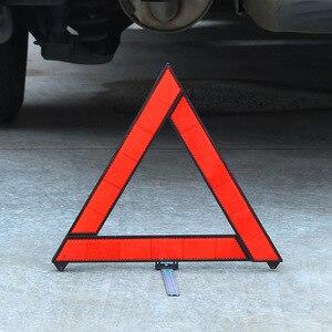 Image 2 - Автомобильный треугольный красный светоотражающий Предупреждающий Сигнал аварийной аварийности автомобильный штатив складной стоп сигнал отражатель светоотражатель
