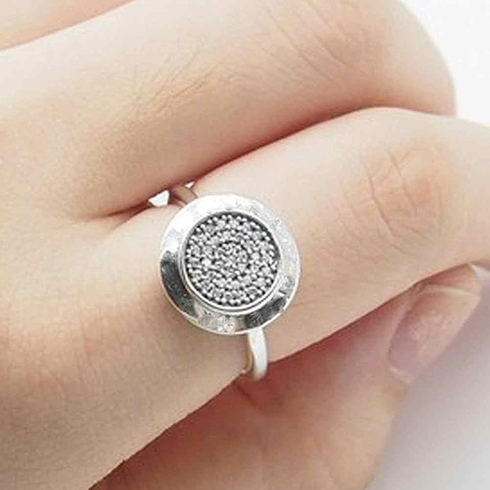 ผู้หญิงแฟชั่นชุบ Rhinestone ฝังแหวนนิ้วมือเครื่องประดับงานแต่งงานของขวัญ