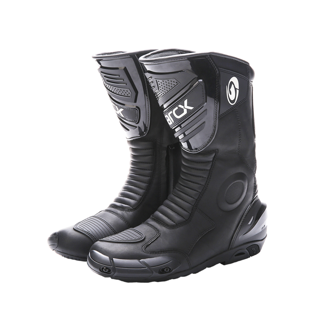 how yes ARCX men motorcycle boots professional motorcross racing boots windproof shoes free shipping  black color