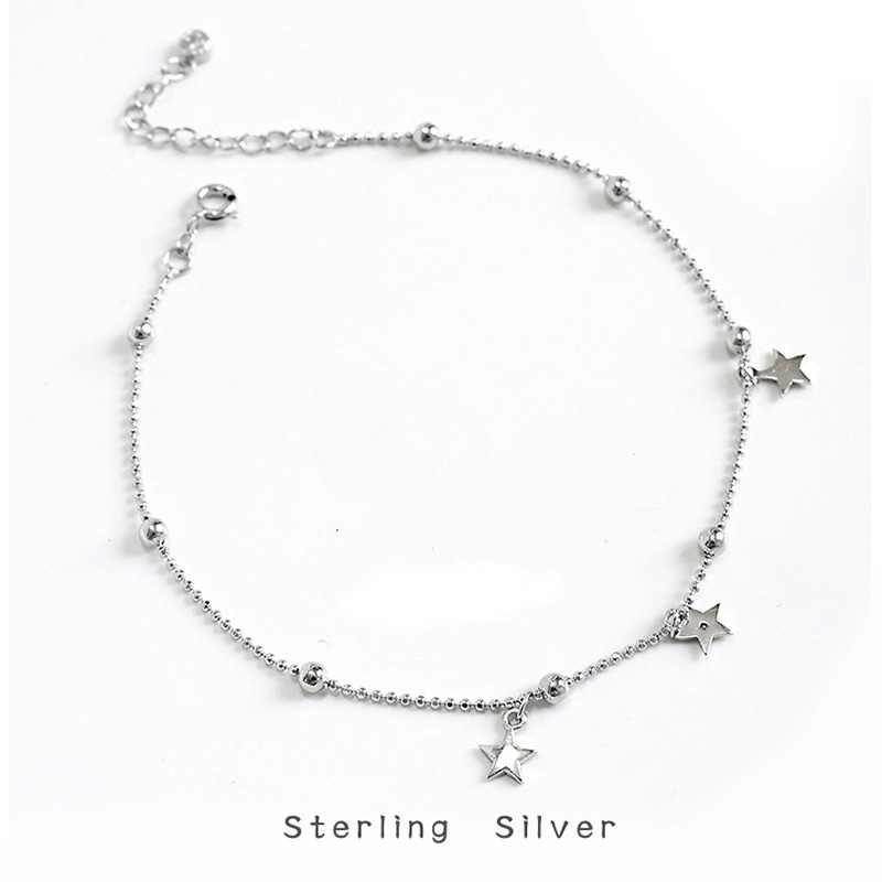 ZOBEI מינימליסטי 925 סטרלינג כסף מעגל כוכב עכס לנשים עגול גיאומטרי מתכת שרשרת תכשיטי יוקרה מסיבת יום הולדת מתנה