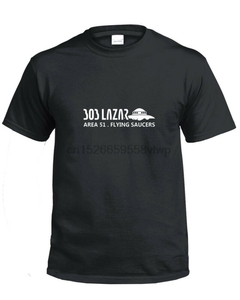 Bob Lazar Area 51 Alien Tee Shirt T UFO Flying Sauces and me dvd Conspiracy Tee(China)