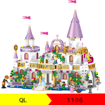 In Stock Girls Friends QL1106 731PCS Building Blocks Princess Windsor Castle Bricks 41148 Toys for Girl Christmas Gift no box new sluban building bricks 815pcs blocks princess cinderella sapphire castle compatible friends education diy kit gift toys girl