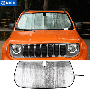 MOPAI Windshield Sunshades for Jeep Renegade 2016+ Car Front Windshield Sun Visor Cover Accessories for Jeep Renegade 2016+ mopai lamp hoods for jeep renegade 2019 car front fog light lamp decoration cover for jeep renegade 2019 accessories