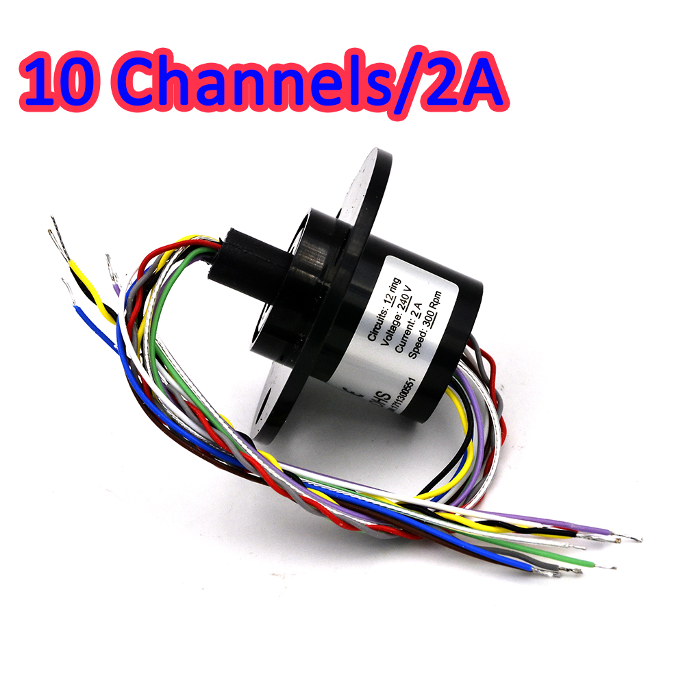 10Channel 2A 22mm Slip Spring Rotate Dining Table Slip Ring Electric Collector Rings