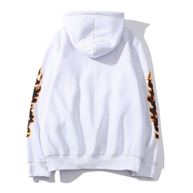 Men Women's Casual Hoodies Fashion Long Sleeve Flame Printed Couple Hoodies Sweatshirts S-4Xl 5